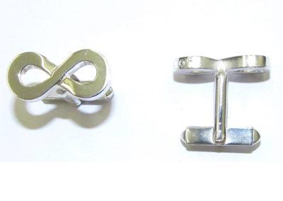 Silver infinity cufflinks
