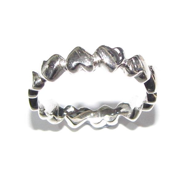 silver heart band