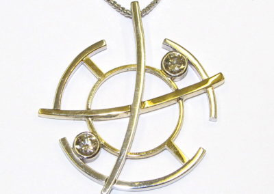 circles and lines pendant