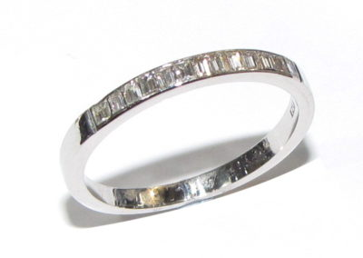 platinum channel set eternity ring