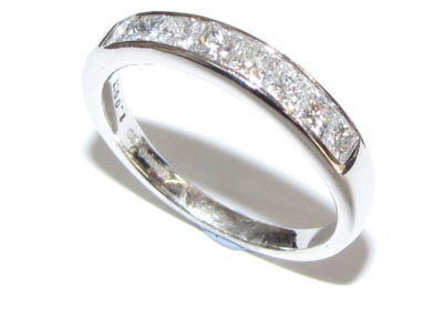 18ct white gold princess cut eternity ring