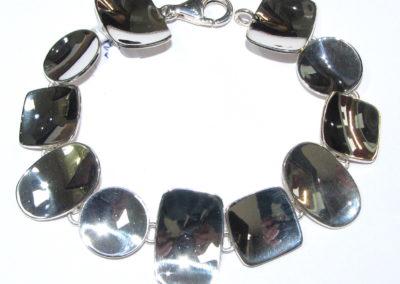 Shapes silver bracelet