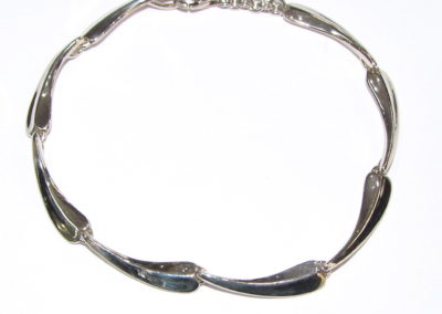 Silver elongated drop bracelet