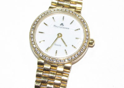 18ct yellow gold and diamond Maurice Lacroix bracelet watch
