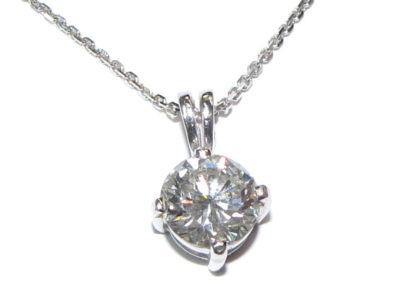 18ct white gold 1.25ct diamond pendant