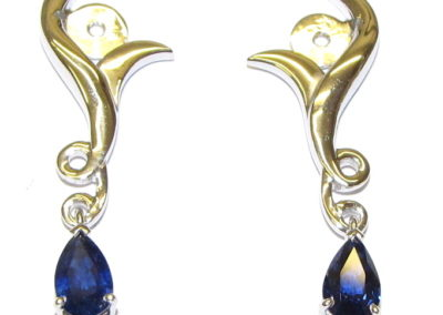 Sapphire earring attachments