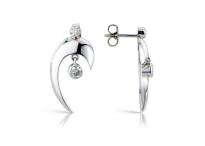 18ct white gold and diamond movement and light earrings