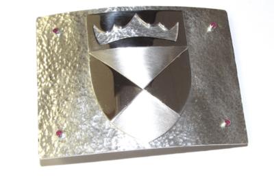 silver kilt buckle