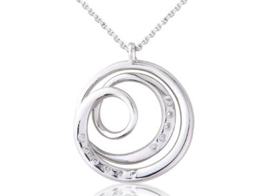 Platinum Swirl Pendant