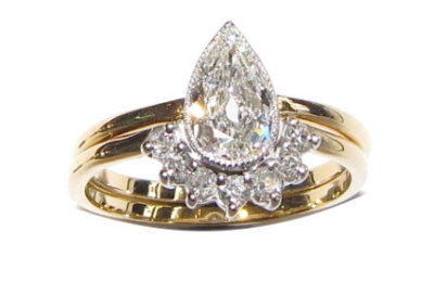 fitted wedding ring – pear shape