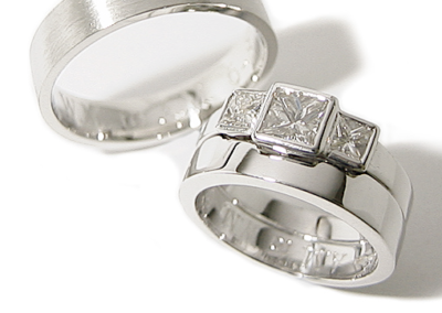 18ct white gold fitted wedding ring