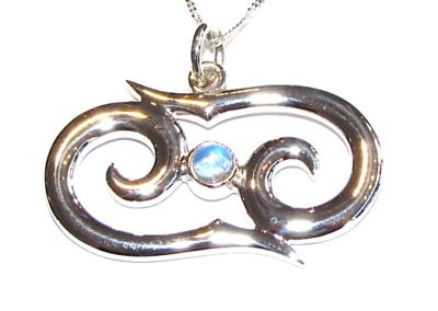 Zodiac pendant with moonstone