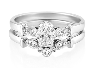 Future vintage engagement and wedding rings