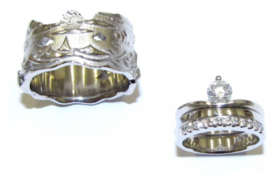 Palladium and Platinum Wedding Rings